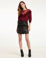 Morgan Pu Mini Skirt