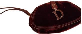 Christian Dior Red Velvet Clutch bags