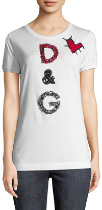 Dolce & Gabbana Embellished Patch T-Shirt
