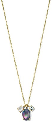 Ippolita 18kt yellow gold Luce 3-stone pendant necklace