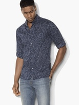 John Varvatos Abstract Button-Down Shirt