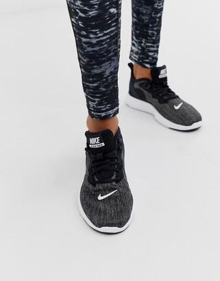 Nike Training flex sneakers in black