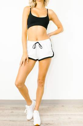 Olympia Neo Shorts In White Mesh