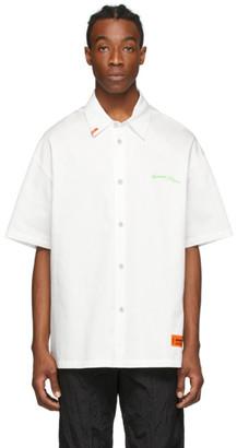 Heron Preston White Style Baseball Shirt