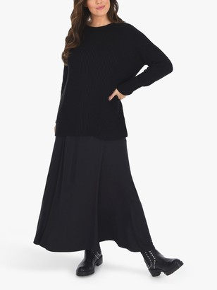 Live Unlimited Curve Knitted Jumper, Black