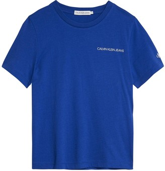 Calvin Klein Jeans Boys Short Sleeve Chest Logo T-Shirt