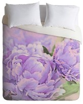 DENY Designs Lisa Argyropoulos Lavender Peonies Lightweight Duvet Cover