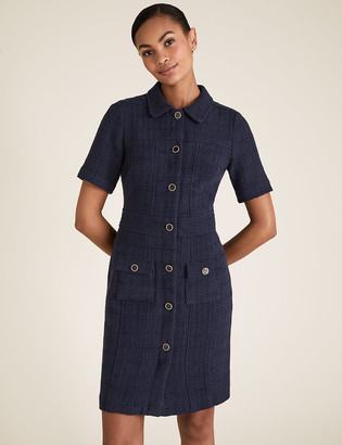 Marks and Spencer Tweed Textured Tailored Dress