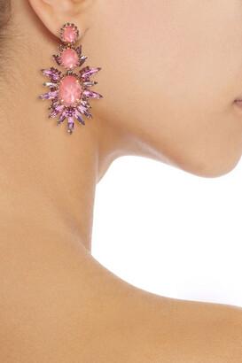 Elizabeth Cole Carmella 24-karat Gold-plated, Swarovski Crystal And Stone Earrings