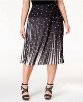 Melissa McCarthy Trendy Plus Size Polka-Dot Skirt