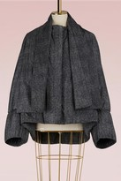 Jil Sander Down jacket with detachable scarf