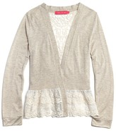 Menu Girls' Lace Trimmed Jersey Cardigan - Sizes XS-XL