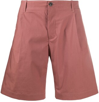 Flared Chino Shorts