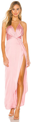 superdown Blake High Slit Slip Dress