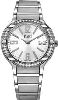 Piaget Polo Women's Silver Dial White Gold Diamond Swiss Made Watch G0A36231