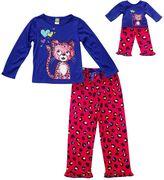 Dollie & Me Girls 4-14 Cheetah Pajama Set