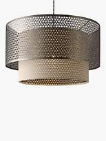John lewis ceiling lighting shopstyle uk john lewis meena fretwork steel pendant light aloadofball Images