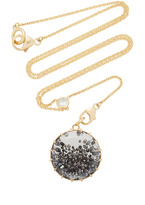 Renee Lewis Black Diamond Shake Necklace On Y Chain