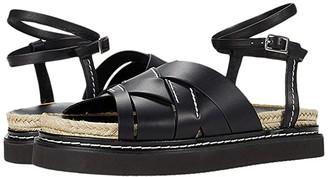 3.1 Phillip Lim Yasmine Espadrille Platform Sandal (Black) Women's Shoes