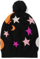 Chinti and Parker Midnight Sky Cashmere Beanie - Black