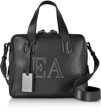 Emporio Armani Genuine Leather Top Handles Boston Bag