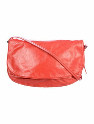 Bottega Veneta Patent Leather Crossbody Bag Orange