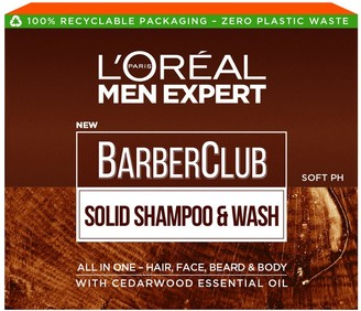 L'Oreal Paris Men Expert Barber Club Solid Shampoo And Wash Bar For Hair, Face, Beard And Body 80G
