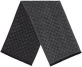 Gucci GG jacquard pattern knit scarf