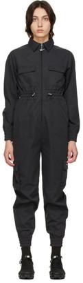 Nike Black Sportswear Swoosh Utility Jumpsuit