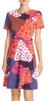 ECI Mixed Print A-Line Dress