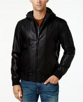 Leather Bomber Jacket Men With Hood fwQhMR