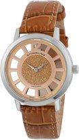 Stuhrling Original Women's 388LS.03 Classic Winchester Edinburgh Swiss Quartz Beige Leather Strap Watch