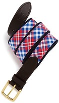 Vineyard Vines Gilberts Pond Plaid Canvas Club Belt