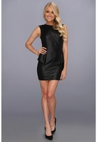 BCBGeneration Leather Cut Out Dress (Black) - Apparel