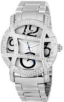 "JBW Women's JB-6214-B ""Olympia"" Stainless Steel Designer Dial Diamond Watch"