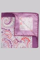 Ted Baker Purple Paisley Silk Pocket Square