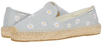 Soludos Daisies Embroidered Espadrille (Chambray) Women's Shoes