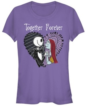 Fifth Sun Women's Nightmare Before Christmas Together Forever Short Sleeve T-shirt