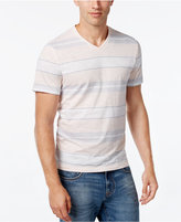 Alfani Men's Big and Tall Multi-Stripe Slim Fit V-Neck T-Shirt, Only at Macy's