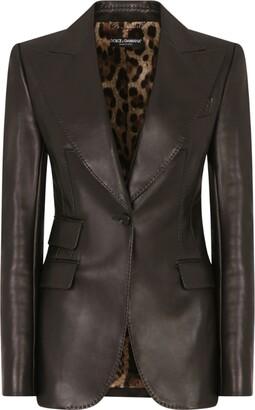 Dolce & Gabbana Leather Blazer