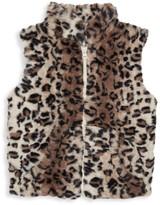 Pippa Widgeon Little Girl's & Girl's Leopard Faux Fur Vest
