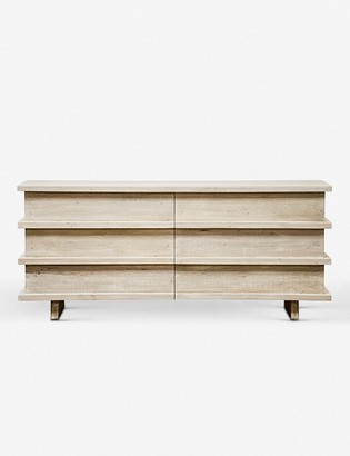 Lulu & Georgia Corliss 6-Drawer Dresser, White Wash