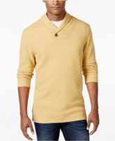 Tasso Elba Men's Honeycomb Textured Shawl-Collar Pullover, Only at Macy's
