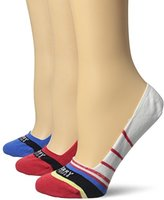 Sperry Women's 3 Pack Signature No Show Liner Socks
