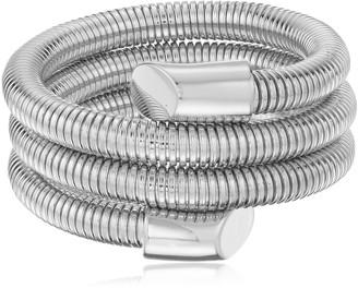 Vince Camuto 3 Row Metal Light Rhodium Coil Bracelet