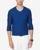 Nautica Men's Textured V-Neck Sweater