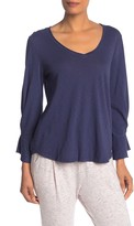 Michael Stars V-Neck 3/4 Sleeve Sleeve Blouse