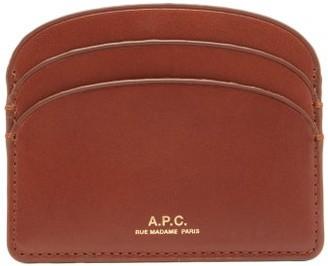 A.P.C. Half Moon Leather Cardholder - Tan
