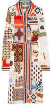Tory Burch Laurence Printed Jersey Midi Dress - Ivory