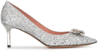 Rochas Crystal-R glitter pumps